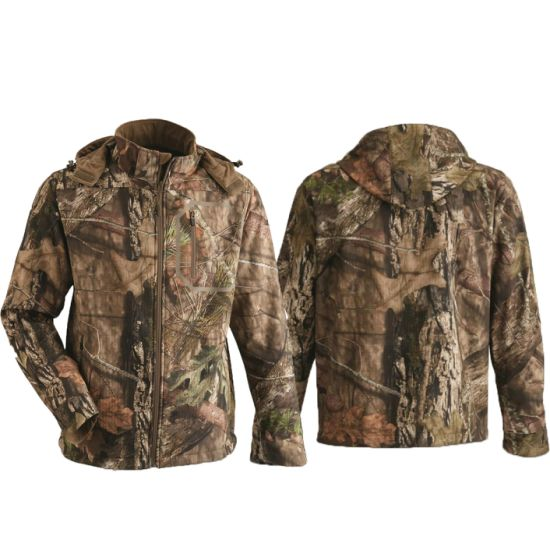 100% Polyester Sell Digital Camo Windbreaker Camouflage Hunting Jacket