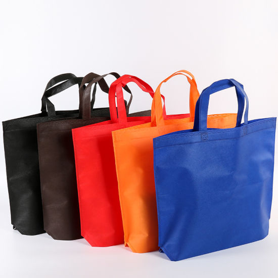 Supermarket Shopping Bags Non Woven Bags with Bottom Without Gusset