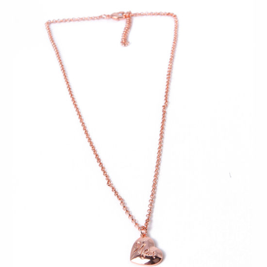 Wholesale Fashion Jewelry Gold Heart-Shaped Pendant Necklace