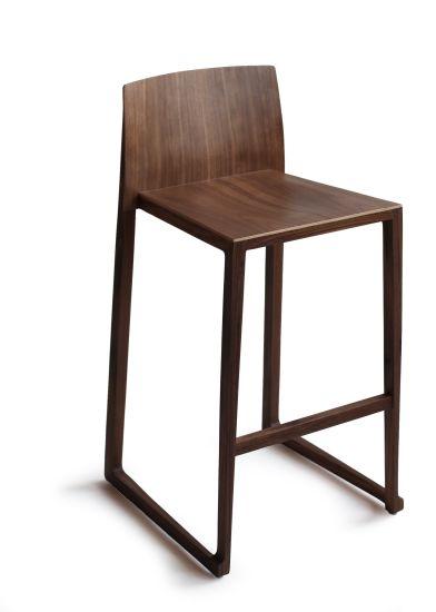 Modern Solid Wood Fabric Bar Stool or Bar Chair Living Room Furniture