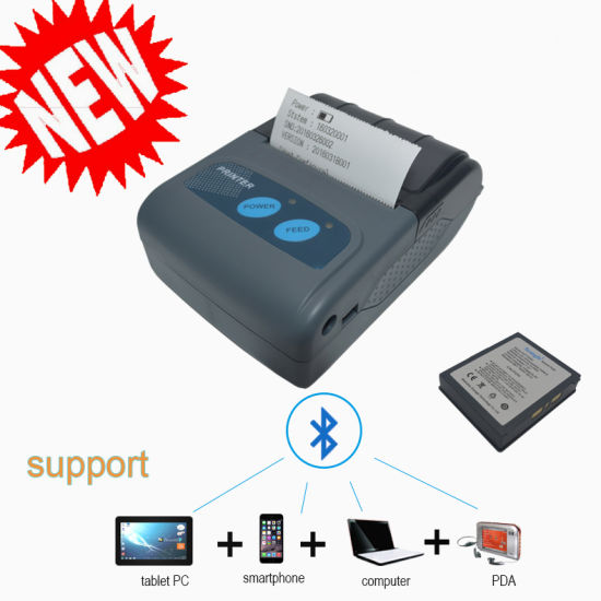 58mm Portable Bluetooth Thermal Printer Support Both Android, Ios and Windows