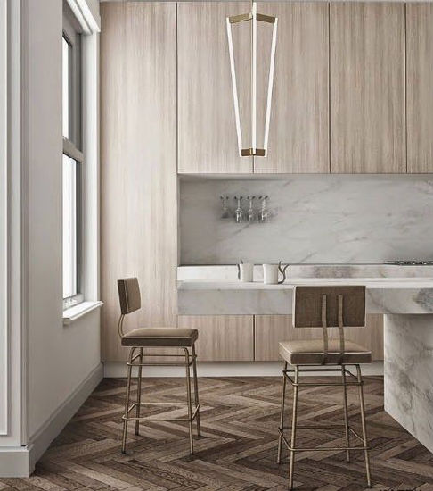 China Modern High End Kitchen Cabinets Wood Grain HPL