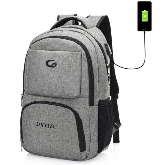 Waterproof Polyester USB Charging Laptop Bag Backpack Student Notebook Backpack pictures & photos