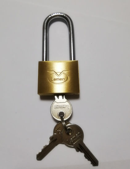 25mm Solid Brass Tri Circle Padlock Boxed New Love Lock Suitcase Luggage