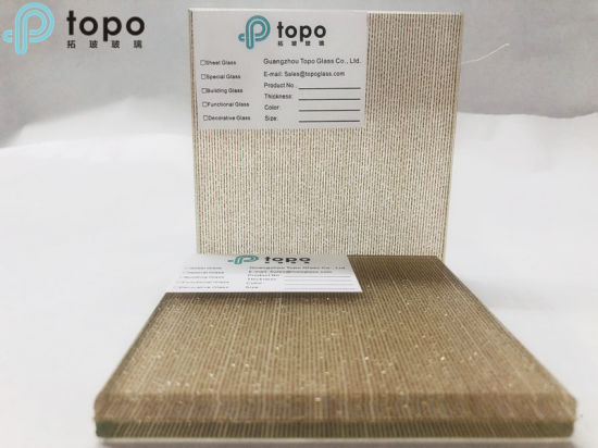 Guangzhou Laminated Metal Wired Fabric Glass (PLW-TP)