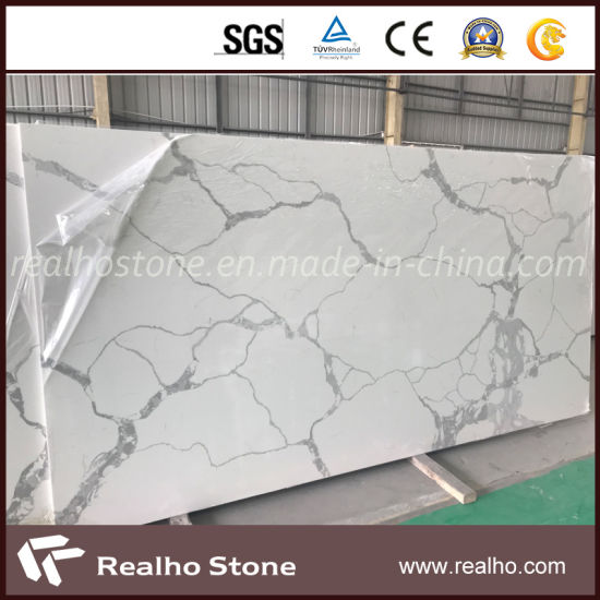 Large Slab Engineered/Artificial Black/Beige/Grey White Quartz Stone for Kitchen/Island Countertop/Bathroom Vanity Top pictures & photos