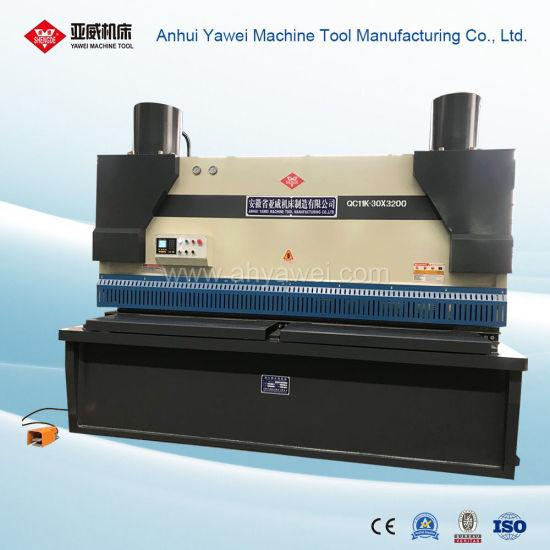 Mechanical Guillotine Shear Machine From Anhui Yawei with Ahyw Logo for Metal Sheet Cutting