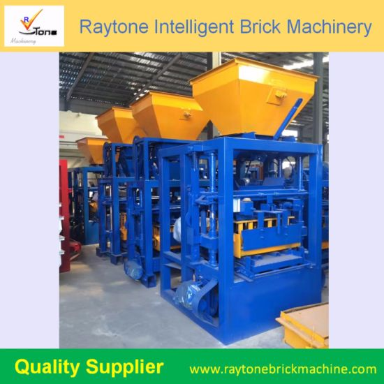 Qt4-24 Manual Cement Block Making Machine Concrete Brick Forming Machine