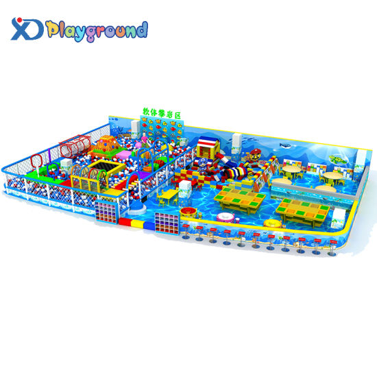 Ocean Themed Amusement Park Indoor Playground Toy with Ball Pool