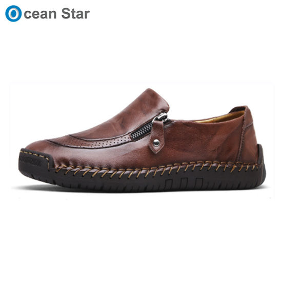 6b4df12f217 New Design Classic Comfortable Durable Rubber Sole Genuine Leather Men  Dress Loafer Driving Casual Shoes