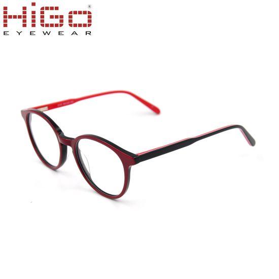 China Colorful Eyewear Acetate Optical Frame for Circle Lens Glasses ...