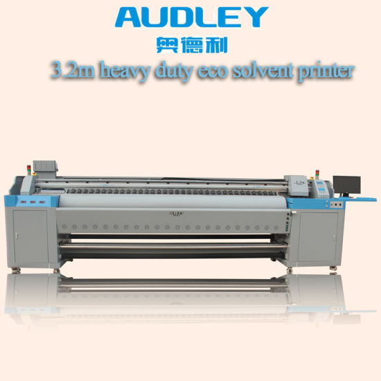 3852002b0 Audley Double Dx7 Heads 3.2m Large Format Eco Solvent Printer Price  pictures & photos