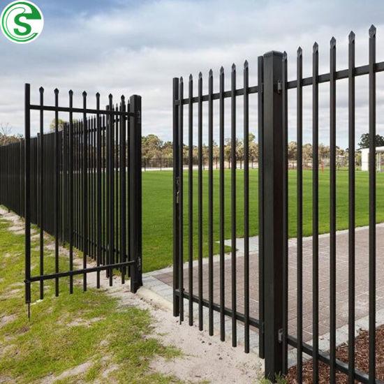 Free to Customize Powder Coated Steel Iron Fence