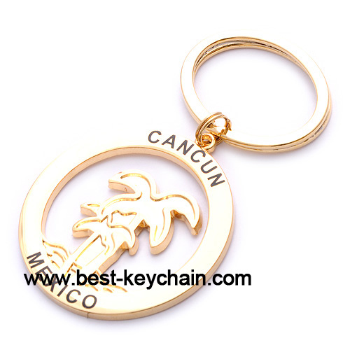 Custom Gift Metal Cancun Keychain Mexico Souvenir (BK52506)