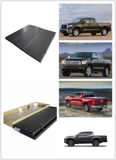Spare Parts Hard Tri Fold Tonneau Cover-Retractble for Toyota Hilux Revo Made in Thailand, 2015 Pickup Truck Bed Cover