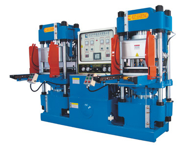 High-Precision Double-Pump Full-Automatic Vacuum Track-Style Hydraulic Molding Machine for O-Ring Products (KSV-250T) pictures & photos