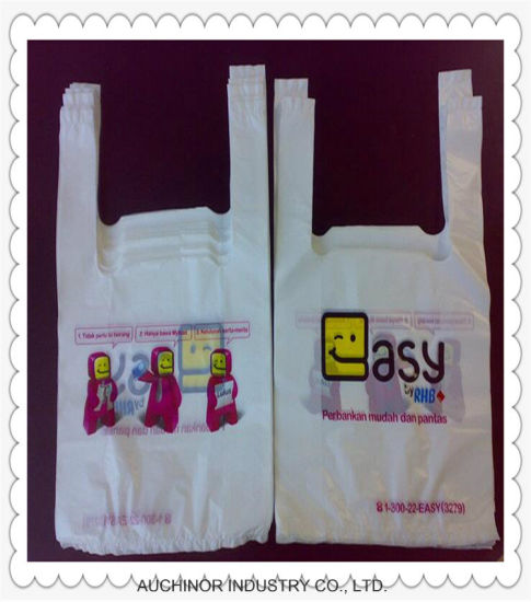 HDPE and LDPE Custom Singlet Plastic T-Shirt Bag/Vest Bags/Carry Bags for Shopping pictures & photos