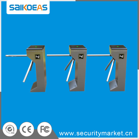 Stainless Steel Price Tripod Turnstile Gate with Qr Code Barcode Scanner pictures & photos