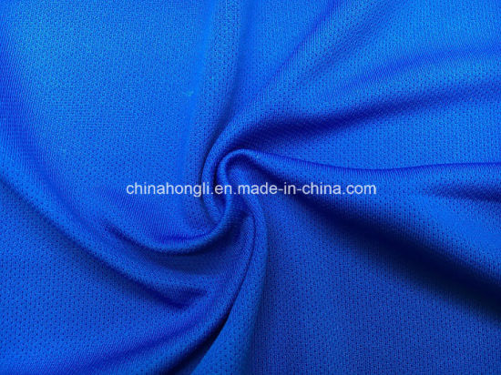 Bird-Eye Fabric 100%Polyester, 170GSM, Single Jersey Functional Fabric with Cool Feeling for Football Uniform