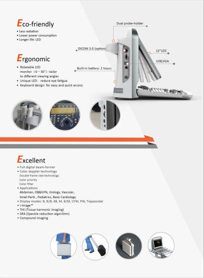 China Portable Color Doppler Ultrasound Machine Mc Du Eco5 China