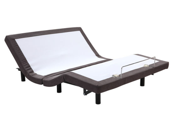 China Double Actuator Furnitured Queen Size Electric Bed Adjustable ...