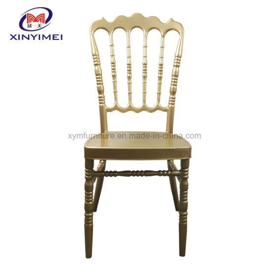Discount Cheap Used Gold Metal Napoleon Chair for Dining