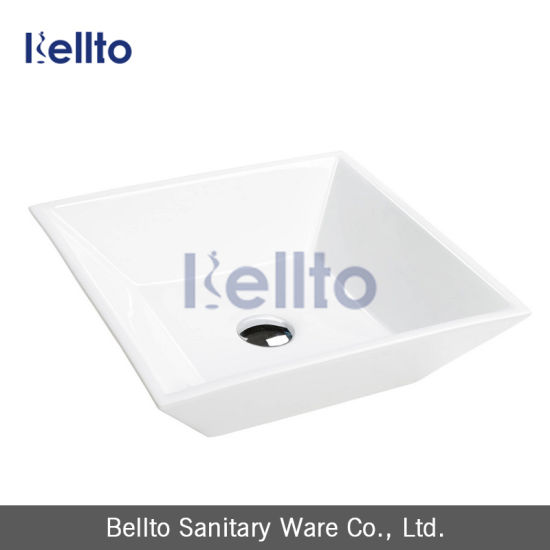 Cheap Square Ceramic Hand Wash Basin for Bathroom Accessories pictures & photos