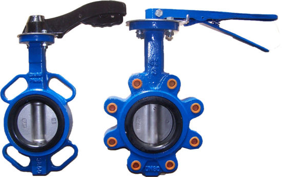 Cast Iron Lug Butterfly Valve with Lever Operation pictures & photos