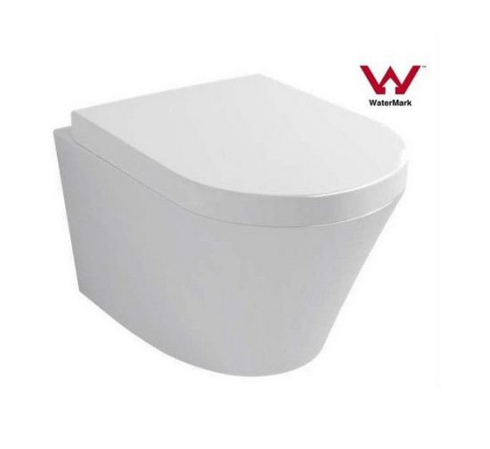 Watermark Conceal Install Screws Wall Hung Round Ceramic Toilet (6013)