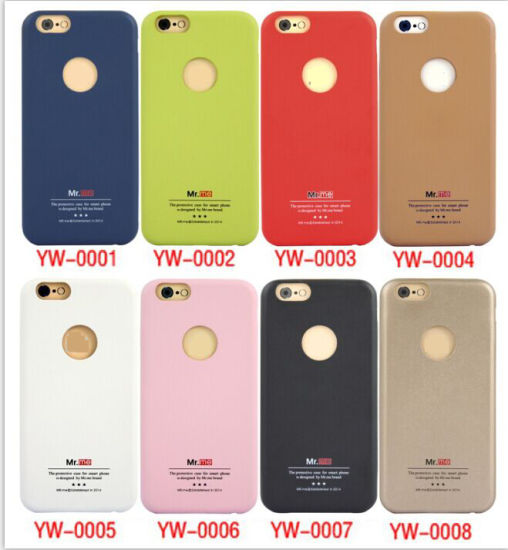 New Anti-Skid Leather PC Phone Case for iPhone 6