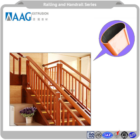 Aluminium Handrail of Staircase and Balcony Fence and Railing pictures & photos