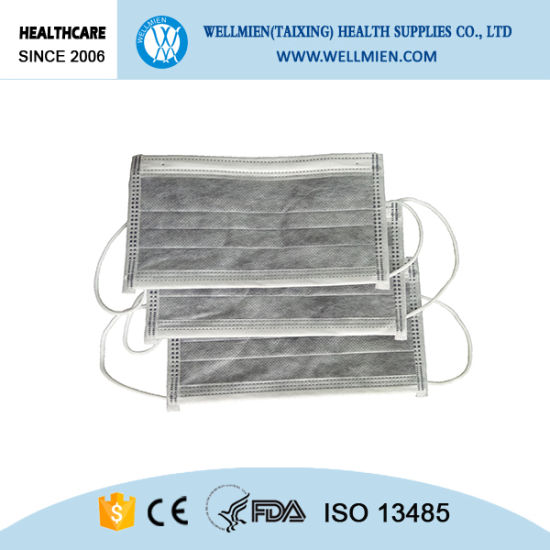 Disposable 4ply Medical Active Carbon Face Mask pictures & photos
