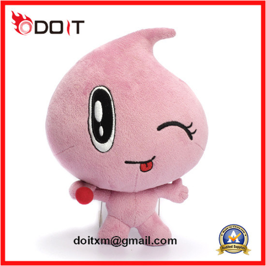 Embroidery Logo Pink Water Drop Doll Stuffed Plush Toy