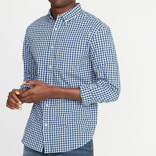 Wholesale Custom Men's Shirts Business Shirts for Men Cotton Long Sleeve
