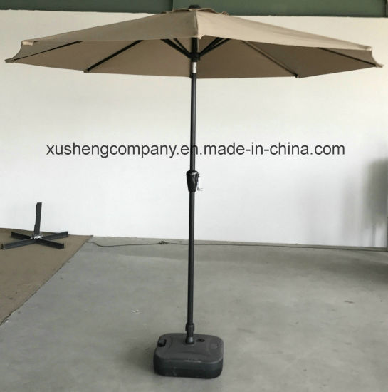 Round Garden Patio U Outdoor Umbrella with Solar Umbrella pictures & photos