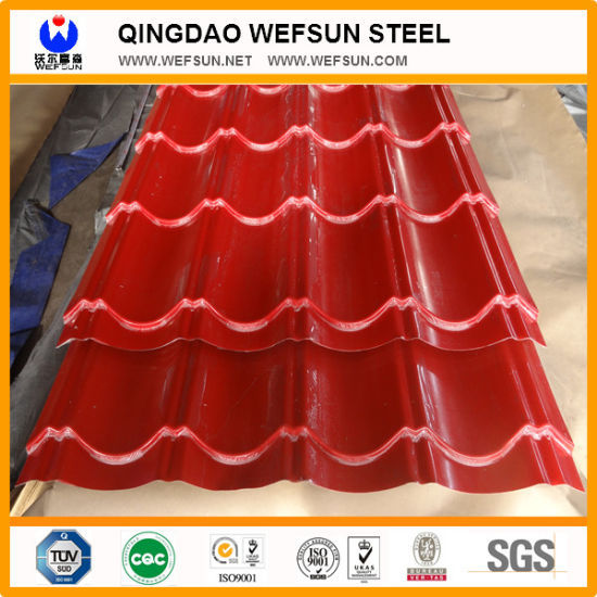 0.55mm Corrugated Steel Roofing Sheet pictures & photos