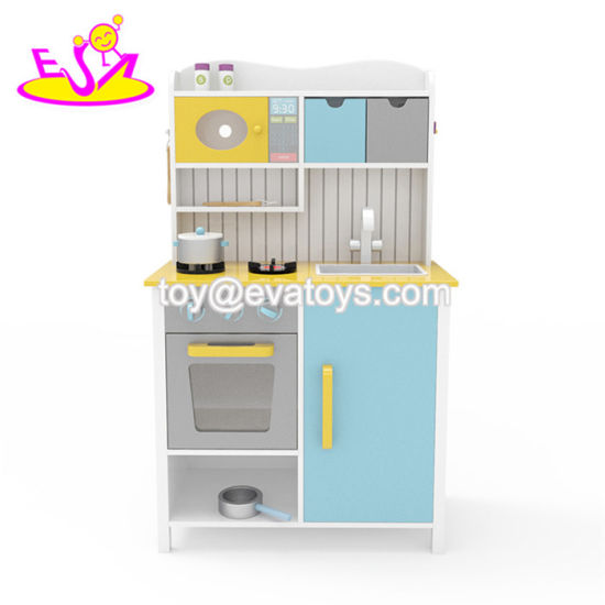 New Hottest Kids Educational Wooden Boys Play Kitchen with Accessories W10c356