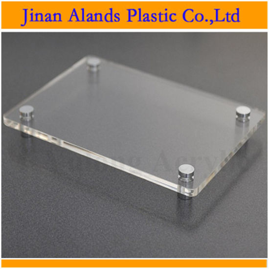 China Cell Cast Photo Plexiglass Acrylic Frame For Cutting Size