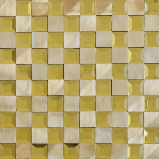 Factory Best Price Metallic Gl Mix Metal Mosaic Tiles