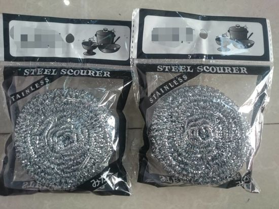 Spiral Ss Scourer with Polybag /with Individual Package pictures & photos