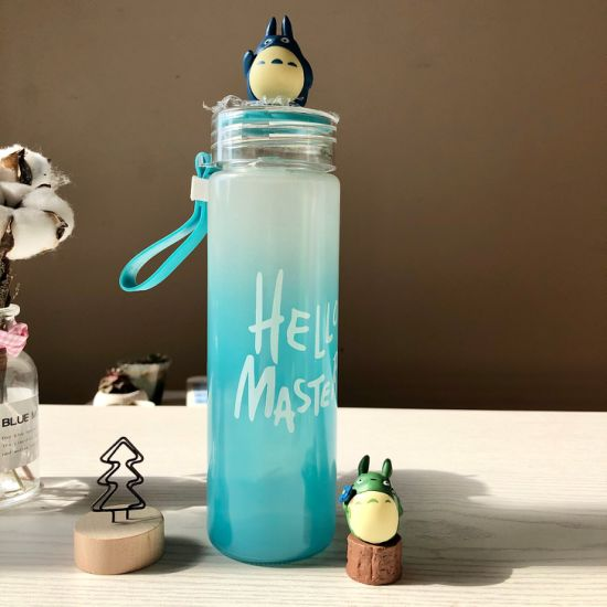 2019 Hot Selling Portable Drinking Glass Frosted Water Bottle Thermal-Protective Silicone Dots Sleeve Sport Water Bottles