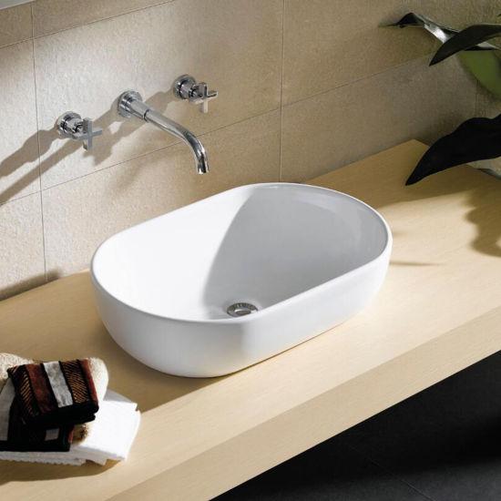 China Ceramic Wash Basin Oval Shape, Sanitary Ware Hair Salon Wash ...