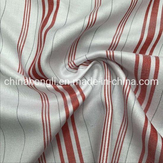 Yarn Dye Stripe 70%Rayon 30%Tencel Mixed Woven Fabric with Smooth Feeling