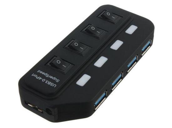 Speed Hub USB 3.0 4ports Hub Cable External Power Supply USB 3.0 4 Por Hub