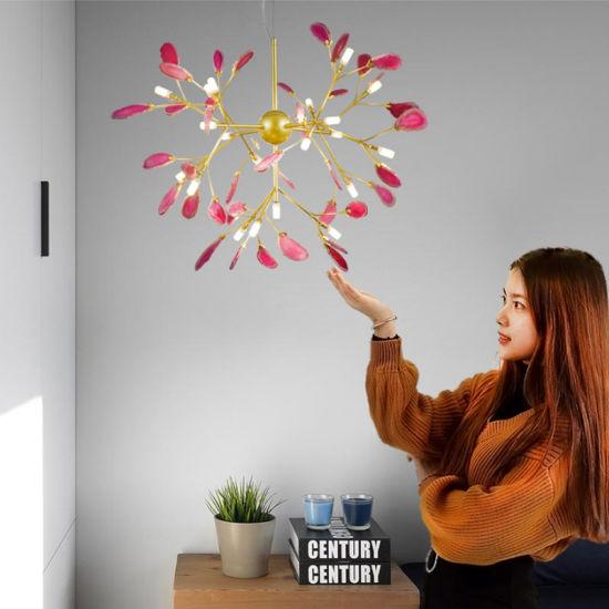 Modern Carnelian Lamp Living Room Lamp Bedroom New House Chandelier