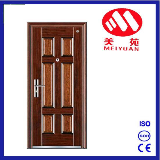 China Indian Main Door Design Metal Security Steel Door For Entrance