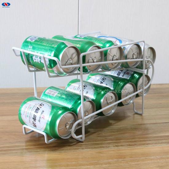Soda Beer Coke Can Dispenser Refrigerator Beverage Display Rack