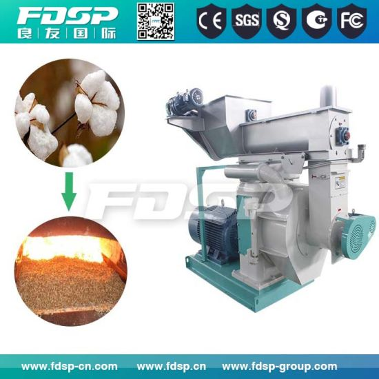 1-2tph Cotton Husk Pelletizer Machine/Ring Die Wood Pellet Mill Price pictures & photos