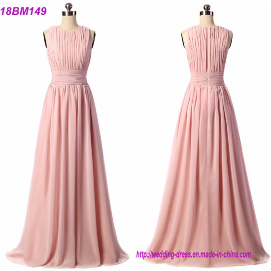 Real Sample Chiffon Custom Long Bridesmaid Dress