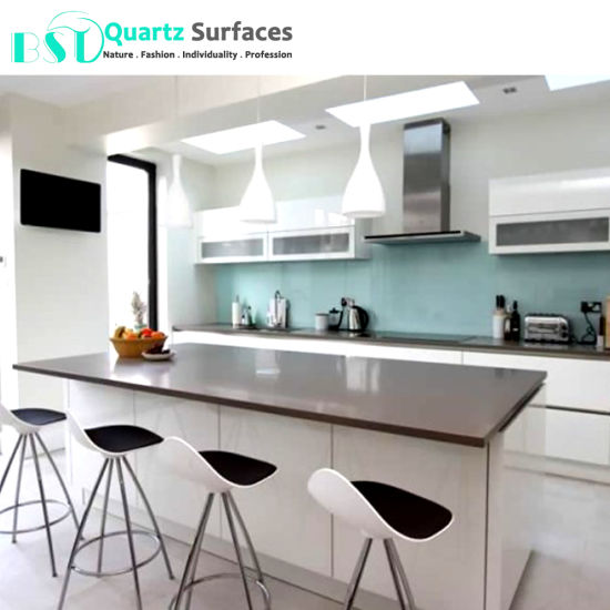 Chinese Heat Resistent Cheap Grey Quartz Countertops